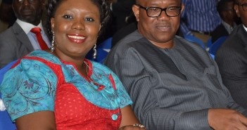Ms Toyosi Akerele and Governor Peter Obi