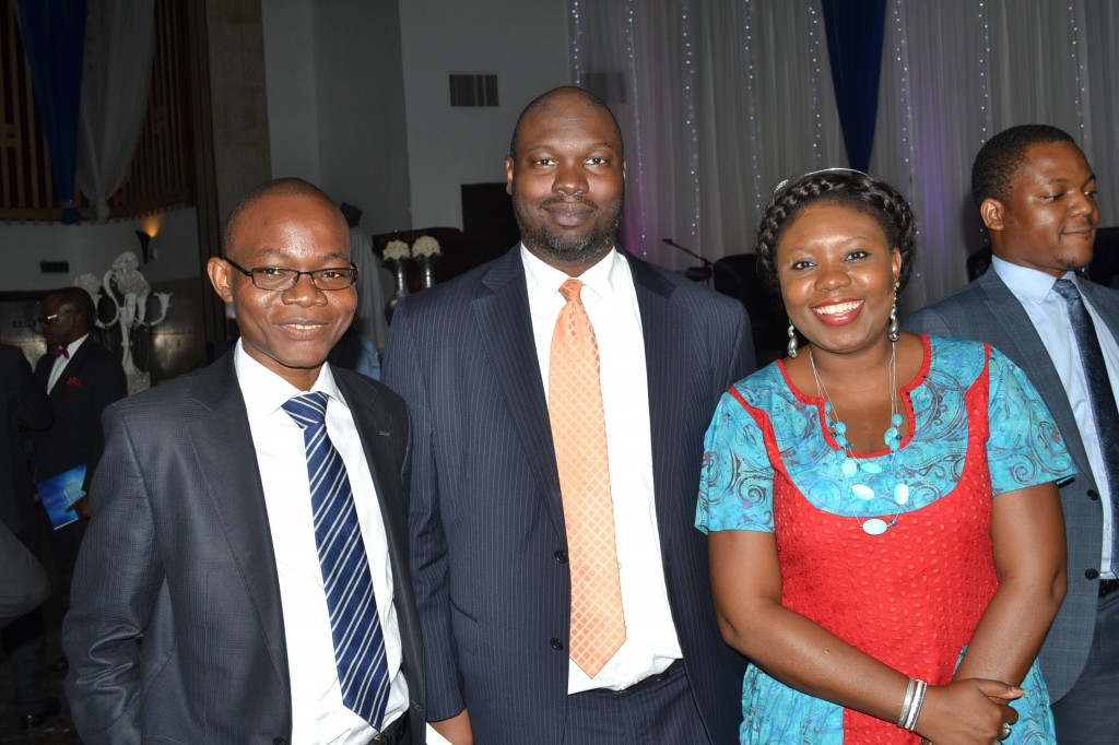 with Segun Olukoya Vice President Nexzton Business Services (middle) and another Guest