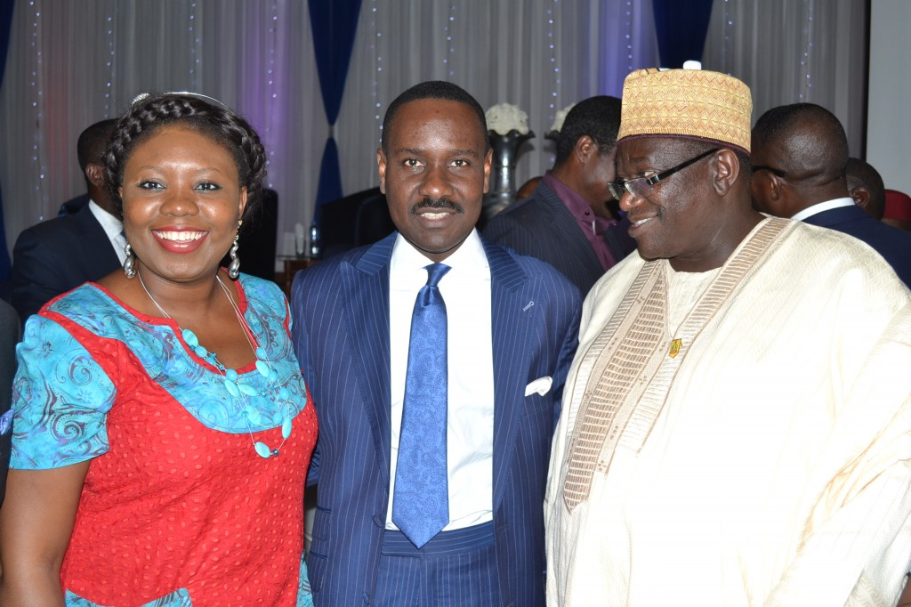 with Pastor Ituah Ighodalo of Trinity Christian Centre (middle) and Alhaji Jani Ibrahim, Chairman Lubcon Oil Group