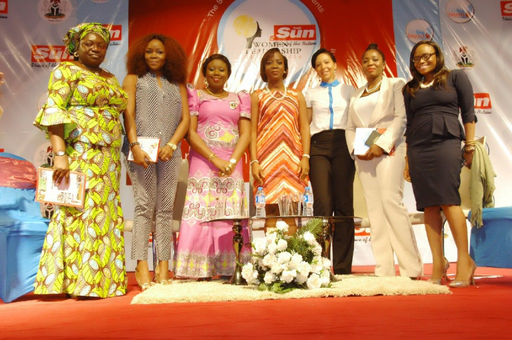 From Left  to Right, Ms. Helen Emore Managing Director Warri Industrial Park, Omawunmi Megbele, Maupe Ogun of Channels TV, Nkemdilim Begho Managing Director of Future Software Resources Ltd, Dr Ufuoma Okotete Managing Director of Diamond Helix Medical Assistance, Funke Bucknor-Obruthe Managing Director/CEO, Zapphire Events.