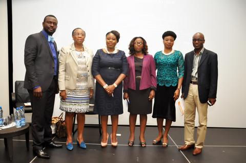 FRom Left to Right: Mr. Debo Adejana, Mrs. Folasade Adefisayo, Mrs Adeola Awogbeni, Mrs Modupe Adefaso