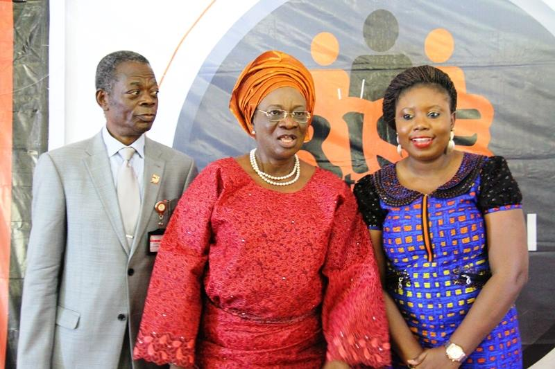 From L-R (Prof. Patrick Oladipo Aina - VC, Ekiti State University, Professor (Mrs) Modupe Adeola Adelabu - Deputy Governor of Ekiti State and Miss Toyosi Akerele at the RNYF 6 (Ekiti Session)