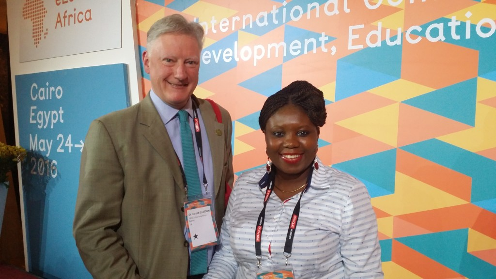 With Dr Harold Elletson, Editor of the eLearning Africa Report, UK