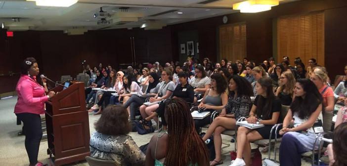 Speaking to the Wheelock College Girls (Boston)