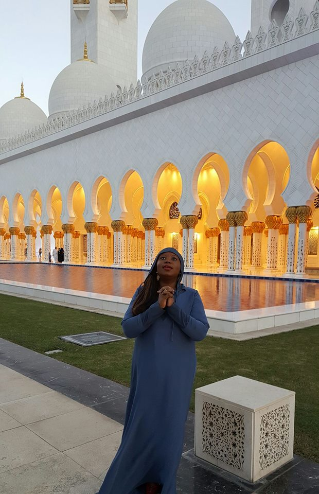 At Sheikh Zayed Grand Mosque