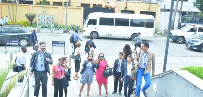 At Access Bank HQ Lagos