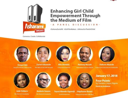 "MY APPEARANCE AT THE SAHARA FOUNDATION PANEL DISCUSSION ON ""ENHANCING GIRL CHILD EMPOWERMENT THROUGH THE MEDIUM OF FILM""."