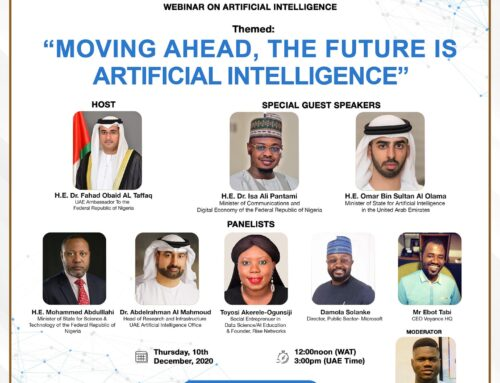 The UAE, a Country I admire very much for its Leadership & Social Innovation has invited me, some of their Top Ministers, Diplomats & some of our brightest Minds in Nigerian Tech to speak on Artificial Intelligence & I feel very honoured to be sharing my Knowledge of this important subject matter with the World today.