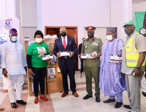 The Single Largest Donation of COVID Rapid Test Kits in Nigeria since the Pandemic broke out in 2020 was officially handed over by we, the Victims Support Fund COVID-19 Task Force to the Secretary to the Government, of the Federation @nigeriagov , Mr. Boss Mustapha, the Honourable Minister of Health, Dr. Osagie Ehanire, the DG of NYSC, @officialnyscng Brigadier General Ibrahim Shuaibu and the DG of NCDC @ncdcgov , Dr. Chikwe Ihekweazu yesterday, Monday April 26th 2021 at the Presidency in Abuja, Nigeria.