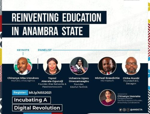 Today, I will be sharing ideas on REINVENTING IN ANAMBRA STATE alongside other great tech entrepreneurs, leaders and policy makers for Anambra Innovation Stakeholders Summit hosted by the Anambra state government and ANSICTA #InnovationGoesEast #AISS2021